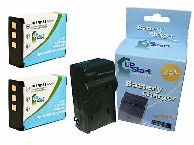 2x NP-85 Battery + Charger for Fujifilm FinePix SL240, BC-85