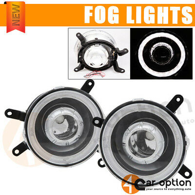 Fits 05-09 Ford Mustang Halo Fog Lights Lamp Projector Chrome One Set Left+Right