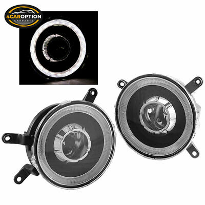 Fits 05-09 Ford Mustang Halo Fog Lights Lamps Projector Black One Set Left+Right