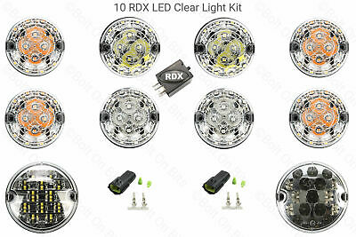 10 RDX CLEAR LED Light Kit 8 Standard Fog Reverse 90/110 Defender 2002 to 2016
