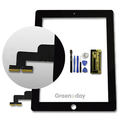 Black New Replacement Lcd Touch Screen Digitizer Glass For Apple Ipad2 Ipad 2 Uk