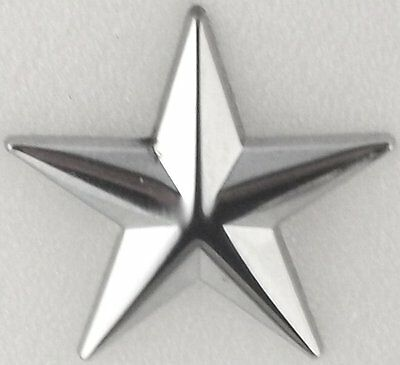 "Police Chief  or Deputy 1 star 1""  Nickel/silver Pair Collar Pins Rank Insignia"