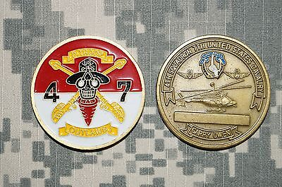 Vintage US Army D Troop 4th Squadron 7th Cavalry 2d Infantry Div Challenge Coin