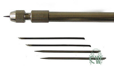 Artists Etching Needle Set. Metal Handle With 5 Needles and storage tube.
