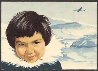 Advertising The SAS Airlines Polar Route Postcard L@@K