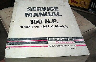 1989 1990 1991 FORCE OUTBOARDS Factory Manual - 150hp