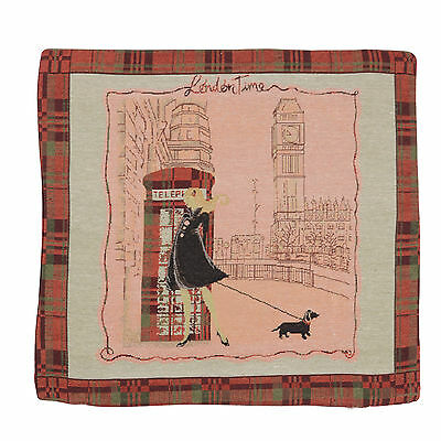 "Wholesale Job Lot 10x Cushion Covers Designer ""Phone Box"" Tapestry 18"" (45cm)"