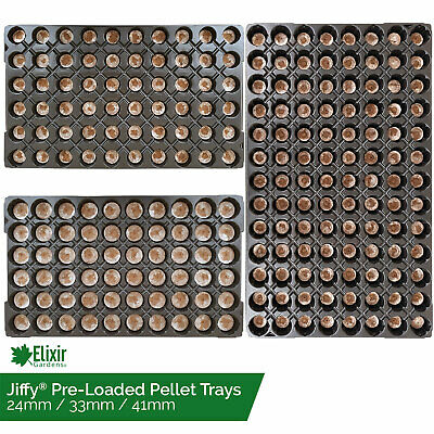Jiffy 7 Preloaded Trays Organic Peat Compost Pellets Hydroponic Seed Propagation