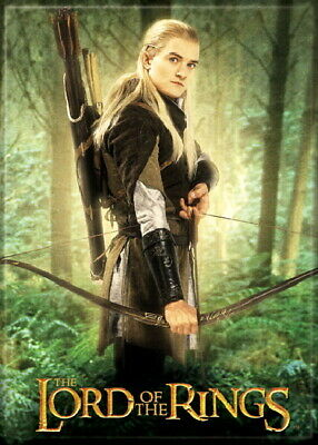 The Lord of the Rings Legolas Greenleaf with Bow Photo Image Refrigerator Magnet