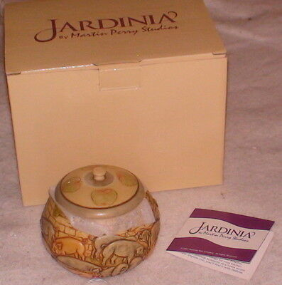 NIB Good Manners Jar Lid Raised Gray Pink Pigs Jardinia Harmony Kingdom New