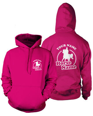 PERSONALISED HORSEY HOODIE-Rider's Name and Horse Name-Kids & Adults Equestrian