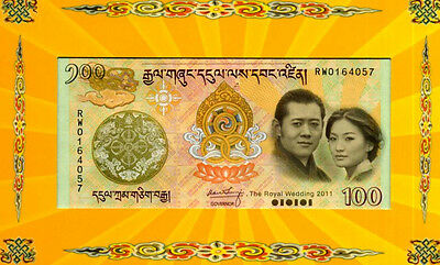 BHUTAN  100  NGULTRUM  2011   P 35 COMMEMORATIVE + FOLDER  Uncirculated
