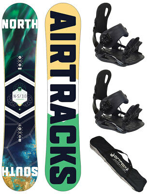 Snowboard Set AIRTRACKS Skull Rocker+Bindung Savage+SB Bag /150 153 155 158 cm/