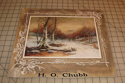 "Vintage HIRAM CHUBB ""At The Close of Day"" (Chandler-Artist) Halifax, PA Calendar"