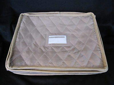 QUILTED STORAGE CASE - for PLATTER STORAGE up to 14 1/2""