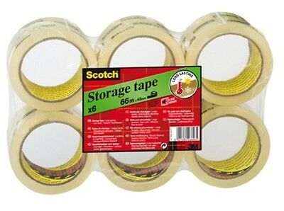 1, 6, 12, 36, 72, 108 ROLLS 3M SCOTCH CLEAR PACKING TAPE  66M X 48MM + FREE 24h