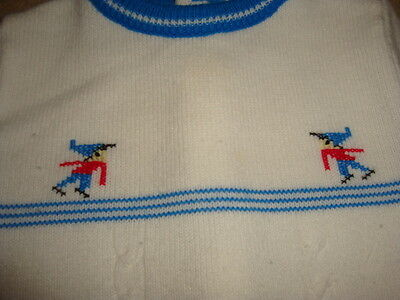 Vintage Baby Boy Toddler Sweater with Electronic Game Style Characters - 1950's