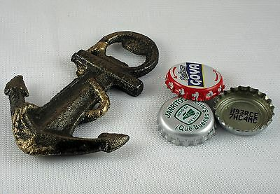 Nautical ANCHOR Cast Iron Bottle Opener, Old Fashioned Painted Look, Brand NEW!