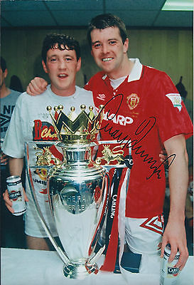 Gary PALLISTER SIGNED COA Autograph 12x8 Photo AFTAL Man Utd Premier League WIN