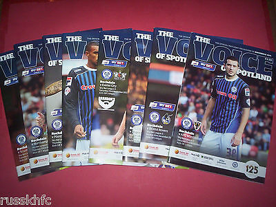 2013/14 Rochdale Home Programmes Choose From