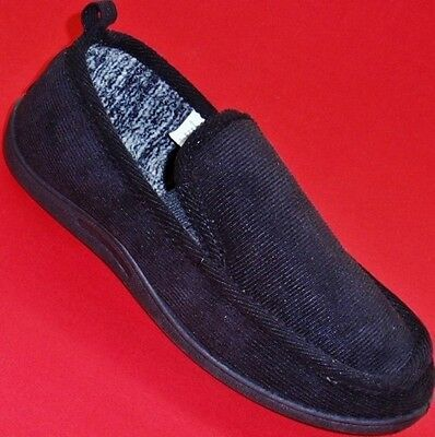 Men's NORTHSIDE Black Slippers Slip On Casual Loafers Comfort House Shoes New