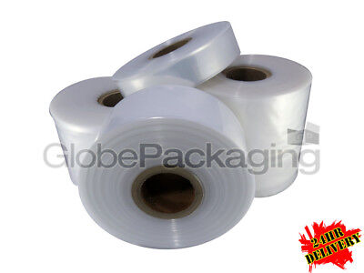 Quality Polythene Plastic Layflat Tubing Rolls *all Sizes/qty's* 250 & 500 Gauge