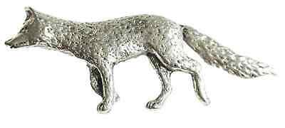 Fox Finely Handcrafted in Solid Pewter In The UK Lapel Pin Badge