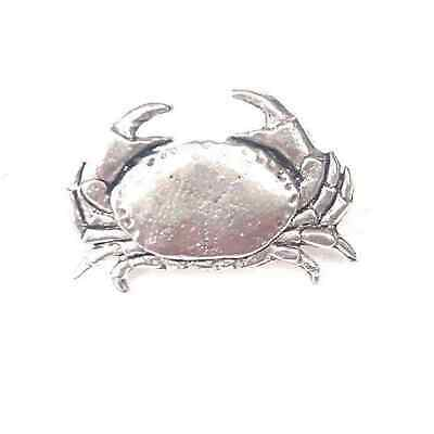 Crab Finely Handcrafted in Solid Pewter In The UK Lapel Pin Badge