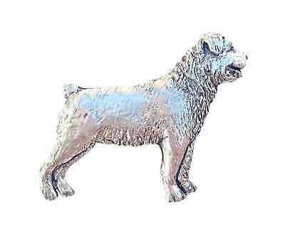 Rottweiler Handcrafted in Solid Pewter In UK Lapel Pin Badge