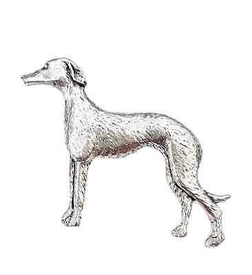 Greyhound Dog Finely Handcrafted in Solid Pewter In UK Lapel Pin Badge