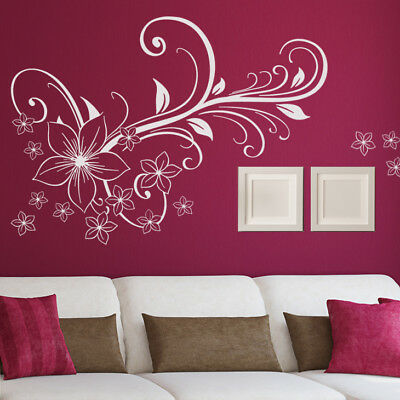 planche stickers fee papillon coeur fleur magique fille mur chambre porte. Black Bedroom Furniture Sets. Home Design Ideas