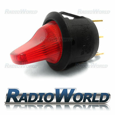 Red Illuminated Rocker Toggle Switch Car dash light ON/OFF 12v SPST