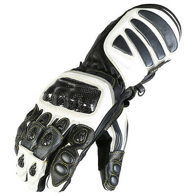 Mens Gunmetal Grey Leather Motorcycle Gloves With Grip Fingers For Motorbike