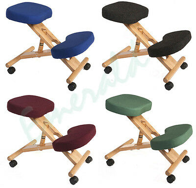 Wooden Kneeling Orthopaedic Stool Ergonomic Posture Chair - Colour Choice