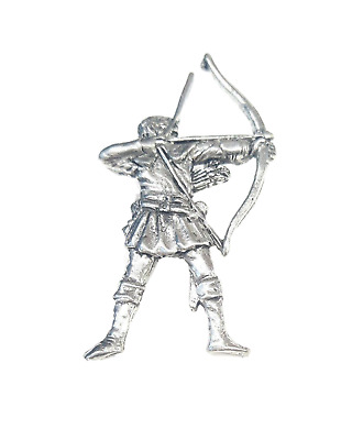 Archer (Robin Hood) Finely Handcrafted in Solid Pewter In UK Lapel Pin Badge