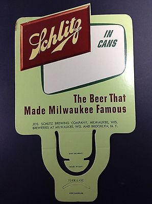 Schlitz Beer Flat Top Can Topper Sign Milwaukee WI