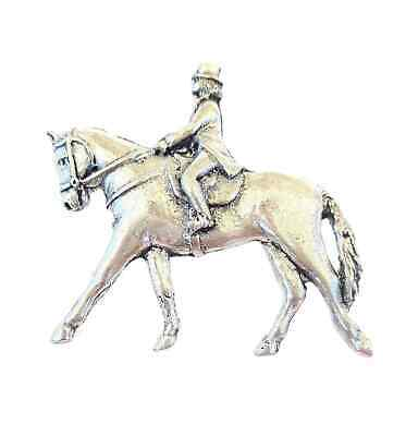 Horse /& Rider Dressage Handcrafted in Solid Pewter In The UK Lapel Badge