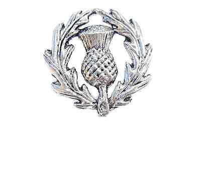 Scottish Thistle Finely Handcrafted in Solid Pewter In UK Lapel Pin Badge