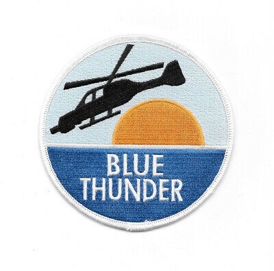 Blue Thunder Movie and TV Series Logo Embroidered Shoulder Patch NEW UNUSED