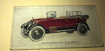 1923 ARMSTRONG SIDDELEY   Orig Wills Cigarette Card New Zealand
