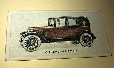 1923 WILLYS KNIGHT  Orig Wills Cigarette Card New Zealand