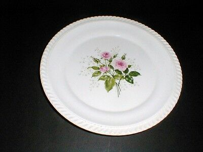 Harker Pottery Gadroon Pink HEATHER ROSE Dinner Plate (loc-X8)