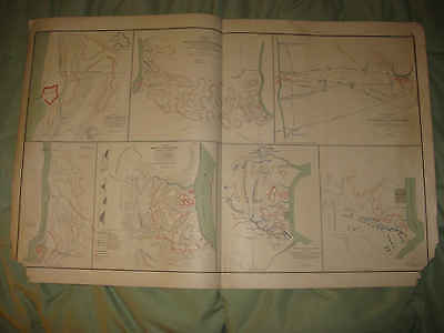 Antique 1893 Kentucky Tennessee Civil War Litho Map Fort Henry Donelson Dover