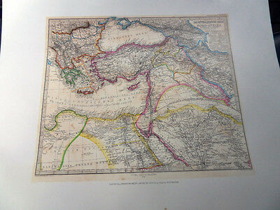 Von A. Petermann Map of North Africa Lithographed from the Original Antique Map