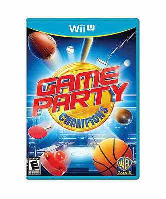 SEALED NEW Nintendo Wii-U Game Party Champions Video Game ping pong mini golf