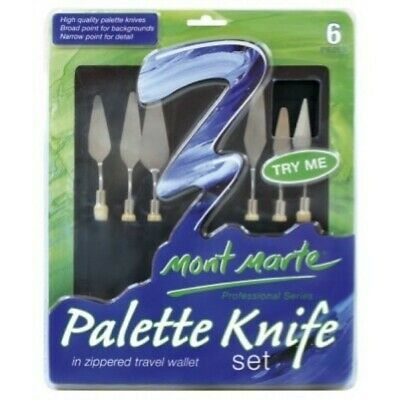 Mont Marte Palette Knife Set in Zippered Wallet
