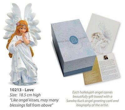"""Love / Amour"" Hallelujah Angel by Sandra Kuck Figurine Gift Statue"