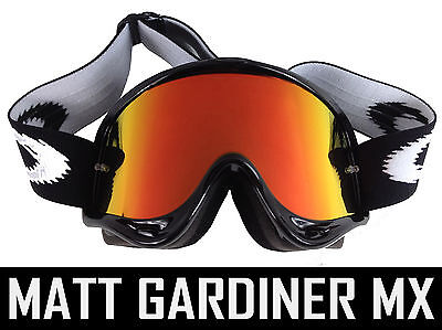 GOGGLE-SHOP RED INFERNO MIRROR LENS fits OAKLEY O FRAME MOTOCROSS GOGGLES 2000
