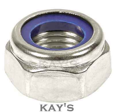Nyloc Nuts Nylon Insert Locking Nuts Bright Zinc Plated Type T Grade 6 Din 985
