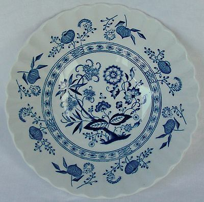 "Meakin J & G Blue Nordic Classic White~Blue Onion Coupe Cereal Bowl 6 1/2"" Mint"